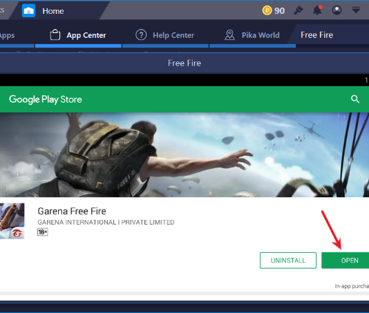Click Open Button