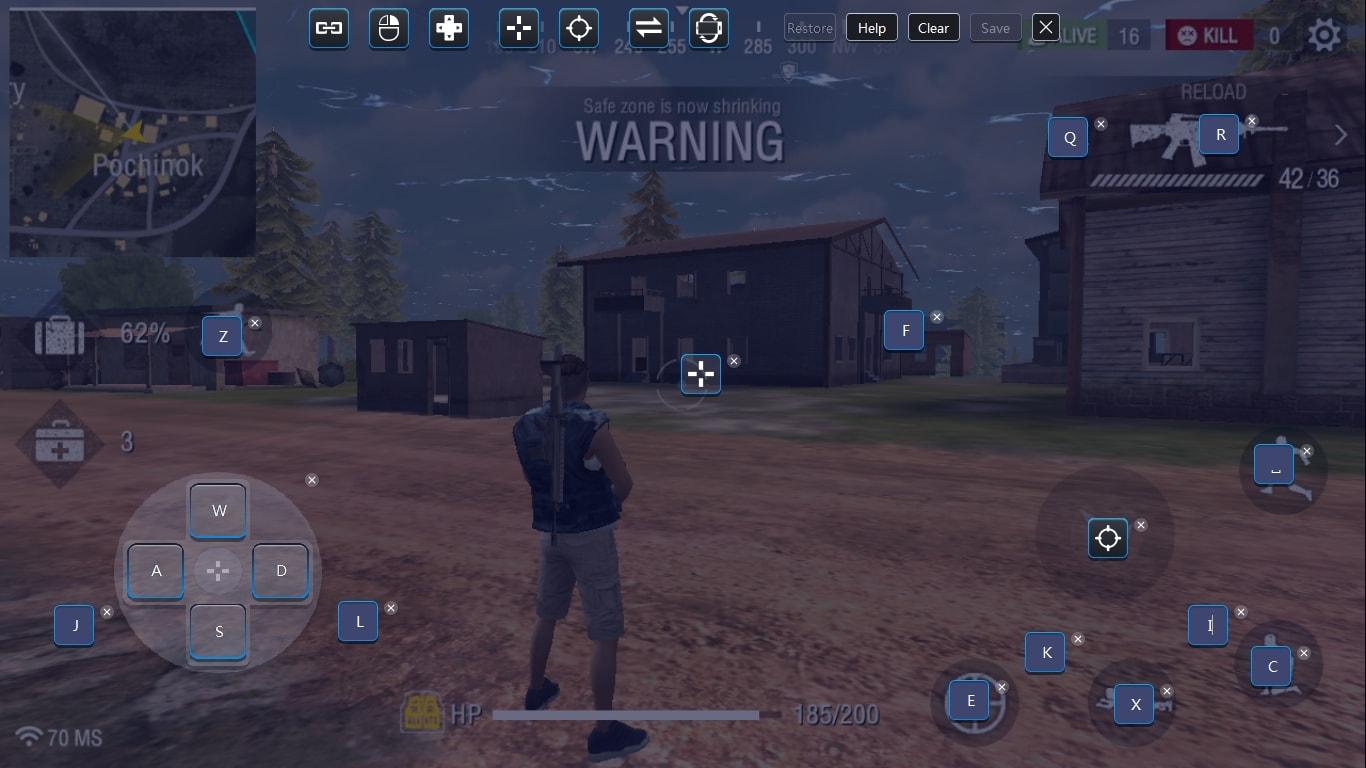 Free Fire Battlegrounds Controls