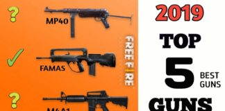 Best Guns in Free Fire